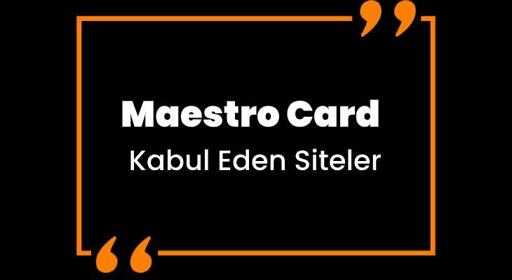 Maestro Card Kabul Eden Siteler